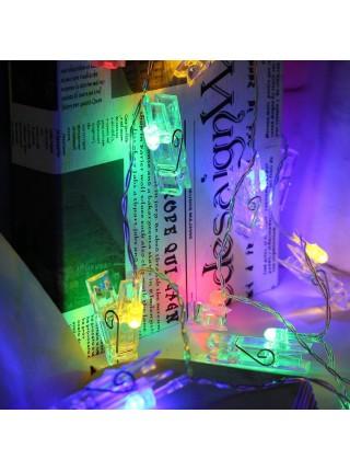 Светящиеся рождественские прищепки для украшения дома