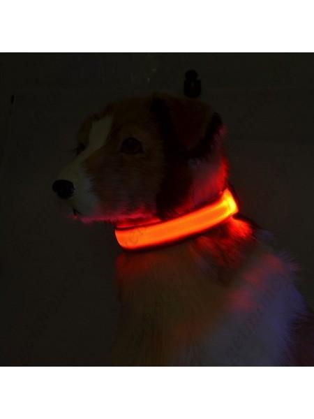 Светящийся ошейник для собаки