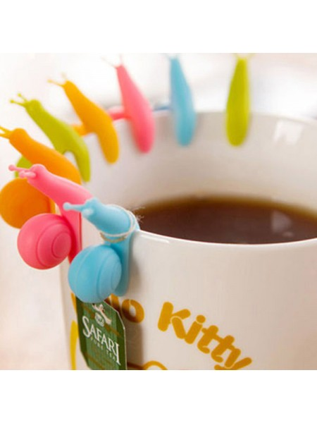 Милые улитки для чайных пакетиков (5 шт.)