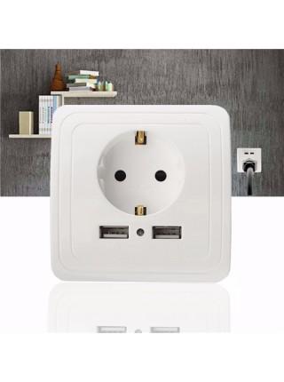 Электрическая розетка с USB-портами