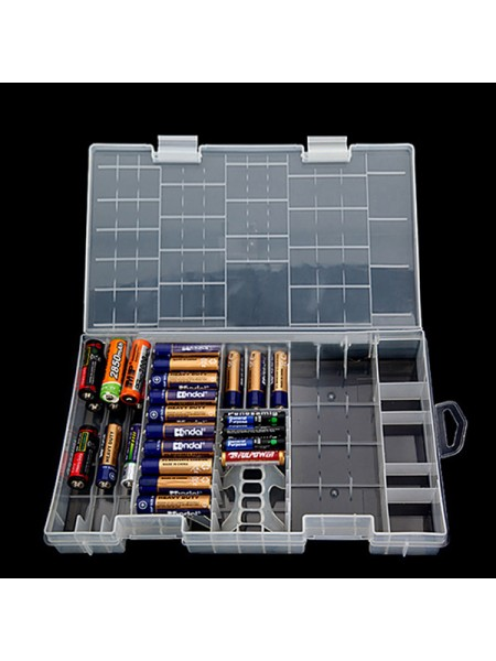 Пластиковый контейнер для аккумуляторов AA/AAA