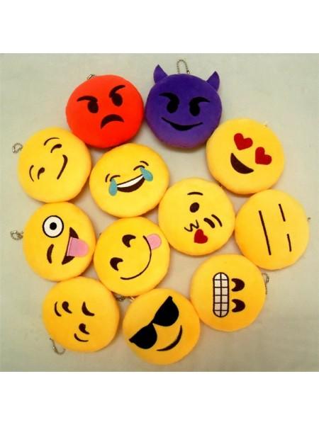 Плюшевые брелки Emoji смайлики