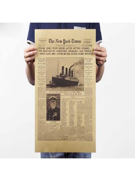 Страница газеты New York Times о гибеле титаника