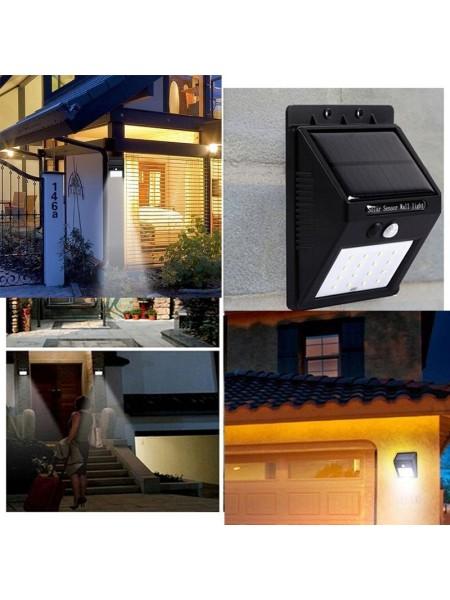 Настенный солнечный светильник с датчиком движения для улицы