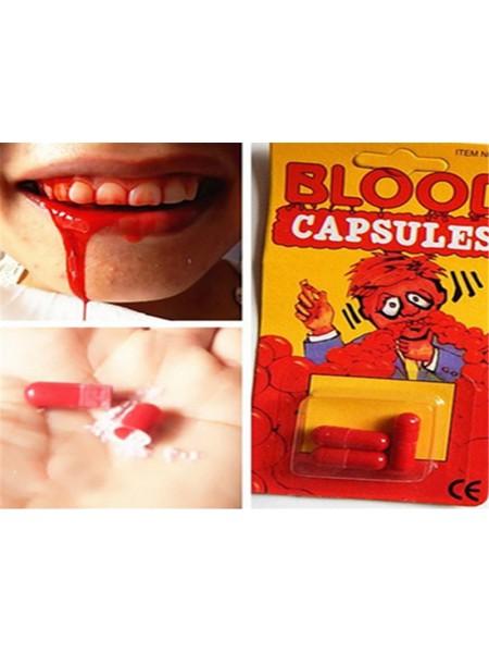 Таблетки с искусственной кровью для розыгрыша