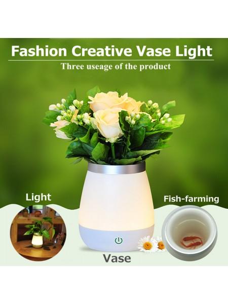 Настольная ваза ночник для цветов