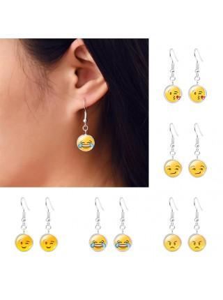 Веселые серьги Emoji