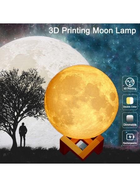 Настольная 3D лампа в виде Луны