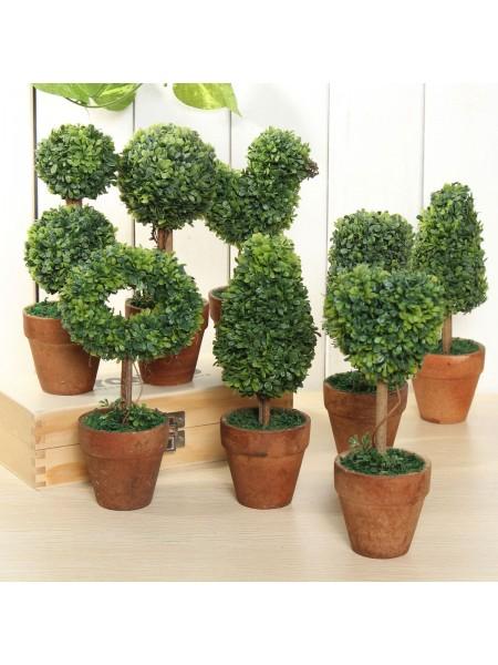 Искусственные деревья в горшочках для украшения комнаты