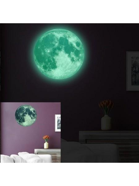 Светящаяся настенная люминесцентная луна (30 см)