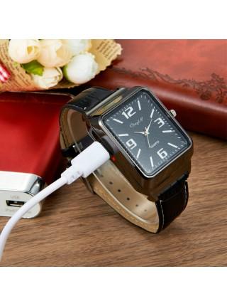 Мужские кварцевые часы со встроенной USB зажигалкой