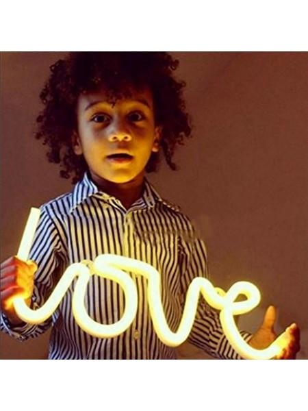 Светодиодный неоновый струнный светильник LOVE