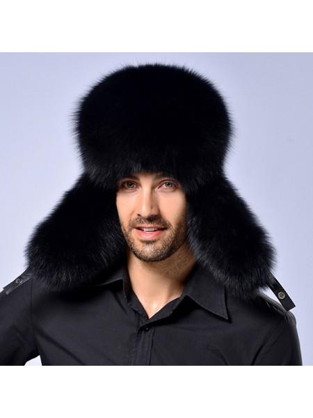 Мужская зимняя теплая меховая шапка