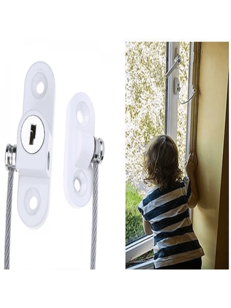 Ограничитель открывания окна с тросом