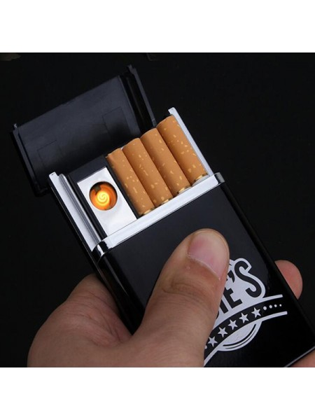 Портсигар со встроенной USB зажигалкой