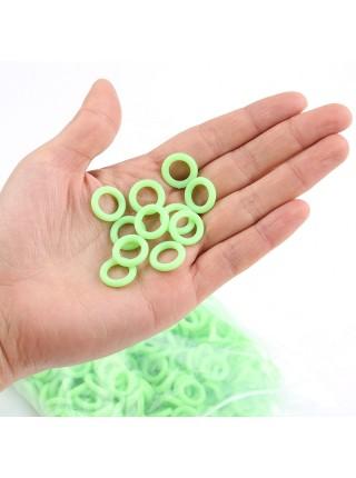 Флуоресцентные светящиеся силиконовые кольца (100 шт.)