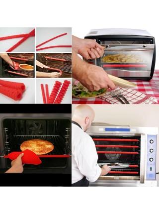 Термостойкие силиконовые защитные трубки для духовки (2 шт.)