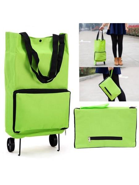 Портативная складная сумка тележка для покупок
