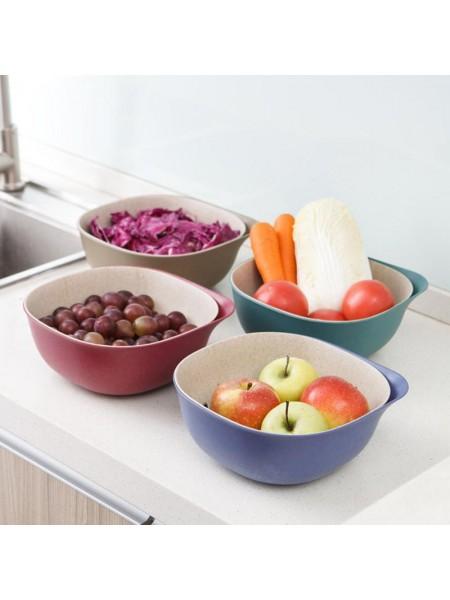 Двухслойная корзина для слива фруктов и овощей