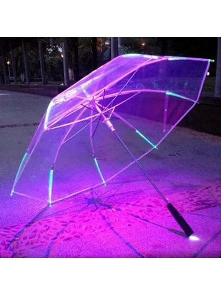 Прозрачный зонтик со светящийся подсветкой