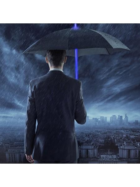 Светящийся светодиодной зонт с фонариком