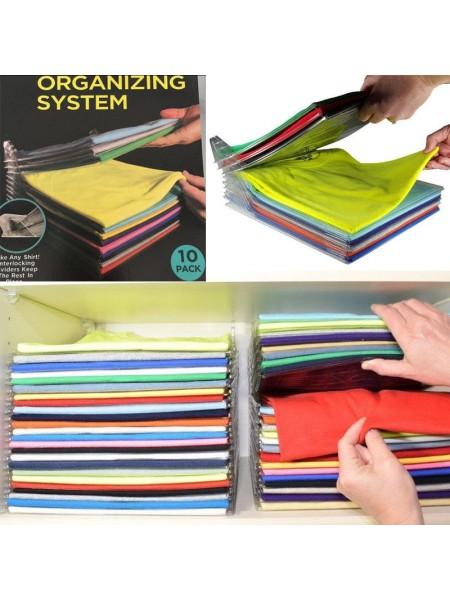 Органайзер для укладки и хранения футболок (10 Пачек)