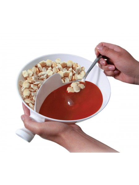 Двойная тарелка для закусок и молока с ручкой