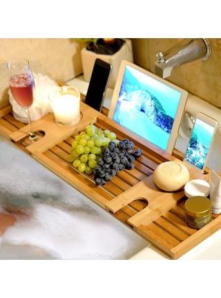 Бамбуковый кэдди столик в ванную