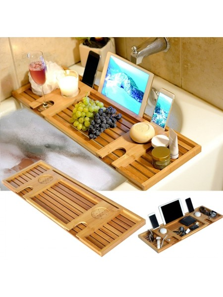 Многофункциональный бамбуковый кэдди-лоток в ванную