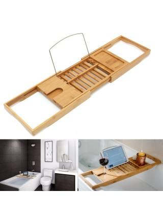 Многофункциональная бамбуковая регулируемая подставка в ванную