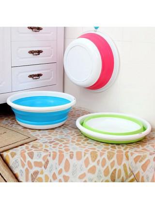 Складная силиконовая чаша для мытья фруктов и овощей