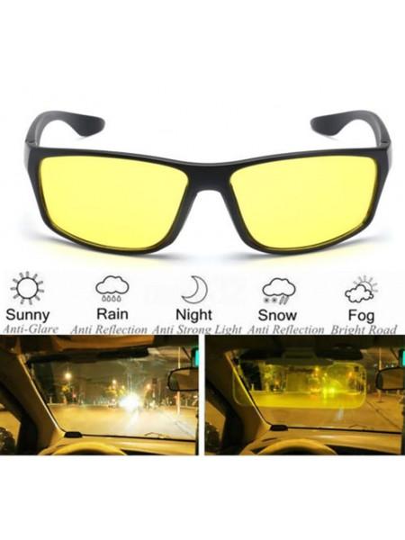 Очки водителя с желтыми поляризационными линзами
