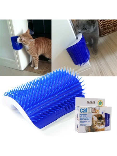 Угловая щетка-чесалка для кошек