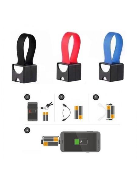 Минизарядка для телефона от батареек АА/ААА