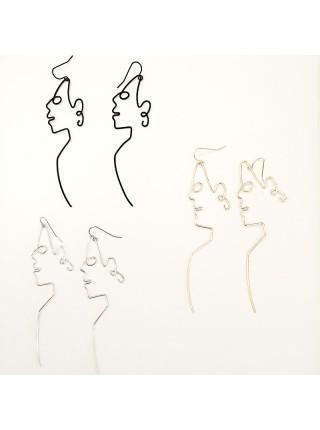 Женские серьги с лицом