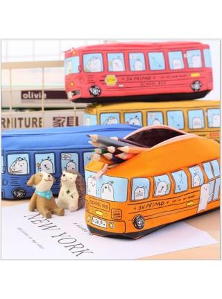 Пенал для детей «школьный автобус»