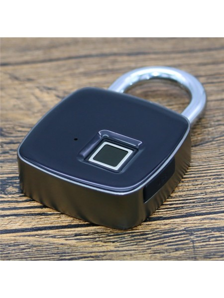 Умный навесной USB замок с отпечатком пальца