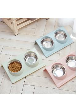 Двойная миска для кормления домашних животных