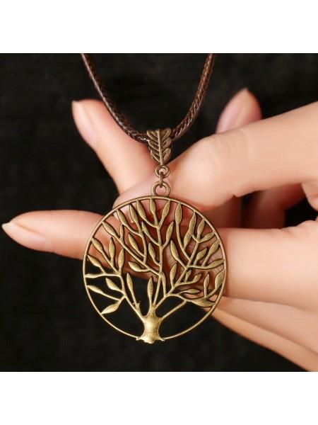 Винтажное ожерелье подвеска дерево жизни