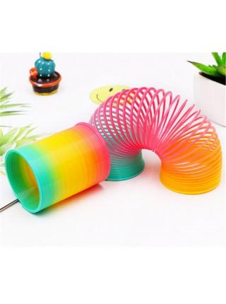 Красочная шагающая пружинка радуга для детей