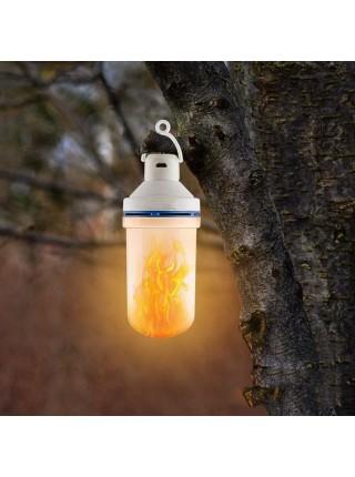 Аккумуляторная светодиодная лампа для кемпинга с эффектом пламени