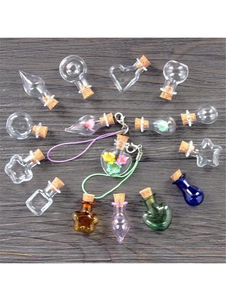 Стеклянные флаконы бутылки для брелоков и подвесок (10 шт.)