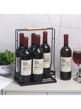 Железный держатель для хранения и переноски стеклянных бутылок