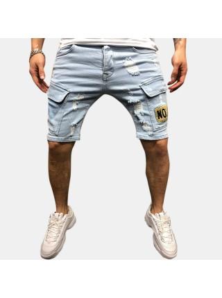 Мужские джинсовые шорты с карманами