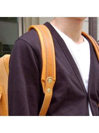 Мужская деловая сумка из натуральной кожи большой вместимостью для офиса