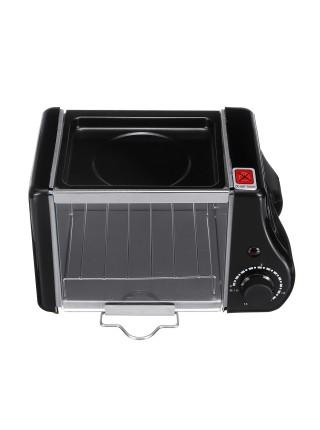 Электрическая мини-духовка для выпечки хлеба и приготовления яичницы