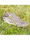 Украшение для пруда реалистичная плавающая голова крокодила