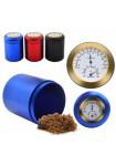 Алюминиевый контейнер для специй с термометром и гигрометром