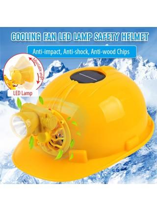 Строительный защитный шлем на солнечной батарее