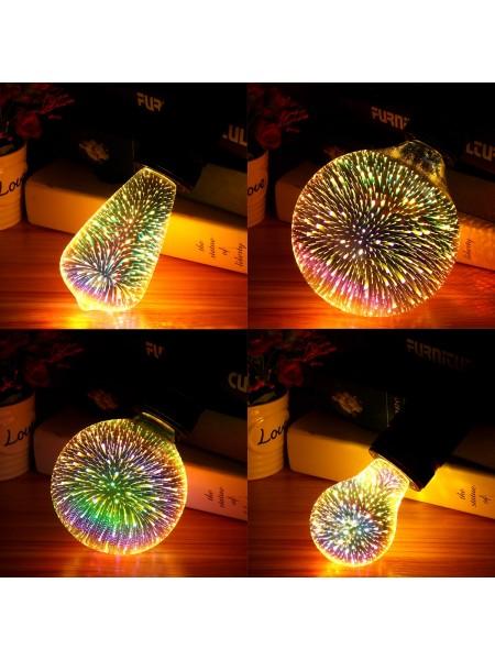 Светодиодная лампочка с эффектом фейерверка